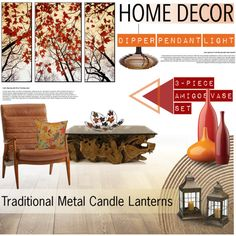 Fall Home Decor by milica1940 on Polyvore featuring interior, interiors, interior design, home, home decor, interior decorating, Serena & Lily, Harvest, CB2 and Old World Design