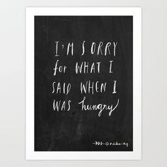 Sorry Quote Art Print by Nneko - $18.00
