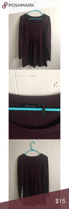 Selling this Lightweight Plum Sweater on Poshmark! My username is: medic_brenny. #shopmycloset #poshmark #fashion #shopping #style #forsale #Daisy Fuentes #Sweaters