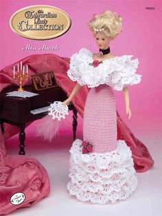 Barbie Crochet: The Edwardian Lady Ball Gown Miss March 1996. $3.95 on e-PatternsCentral