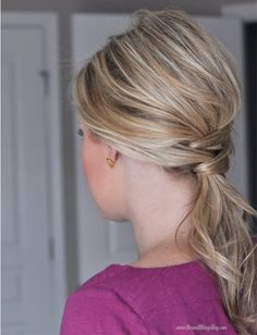 Saddle Up: 7 Ways to Create A Dressed Up Ponytail | Latest-Hairstyles.com