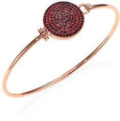 Michael Kors Brilliance Rose Pavé Disc Bangle Bracelet on shopstyle.com Bangle Bracelets, Bangles, Michael Kors, Jewelries, Ruby Red, Luxury Jewelry, Czech Glass, Druzy Ring, Rose