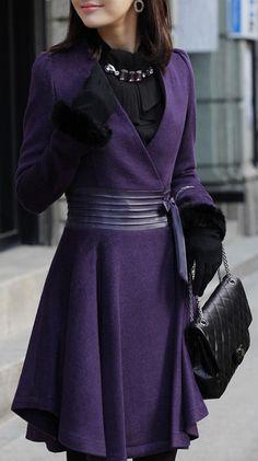 Purple Wrap Coat //