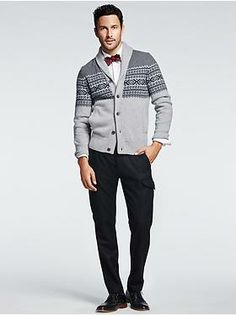 Banana Republic... bowtie and cardigan