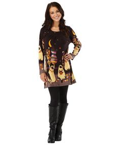 LD475 - Quirky Siamese Cat Tunic  - Quirky Siamese Cat Tunic, Women's Tunics, Women's Clothing, Clothing, Accessories, Joe Browns