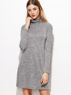 Shop Heather Grey Cowl Neck Shift Dress online. SheIn offers Heather Grey Cowl Neck Shift Dress & more to fit your fashionable needs.