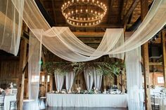 A Wedding that Fully Embraces Spring Reception Venue: The Farm at Eagles Ridge - www. Event Design: Oleander Floral & Events - www. Farm Wedding, Rustic Wedding, Dream Wedding, Tent Decorations, Wedding Decorations, Wedding Ideas, Wedding Draping, Wedding Reception, Wedding Ceiling