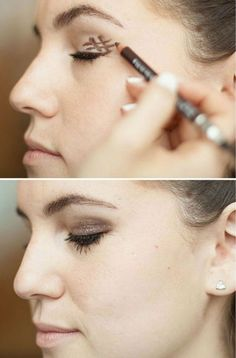 DIY Makeup Tutorials : Hashtag for Perfect Smokey Eye Makeup How To Do Makeup, Diy Makeup, Drugstore Makeup, Makeup Trends, Simple Makeup, Natural Makeup, Le Contouring, Eyeliner, Eyeshadow