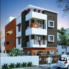 House Outer Design, Bungalow House Design, House Front Design, Modern Exterior House Designs, Cool House Designs, Exterior Design, Modern House Facades, Residential Building Design, Home Building Design