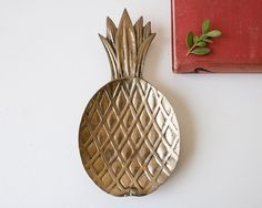 Vintage brass pineapple dish or tray by SadRosetta on Etsy