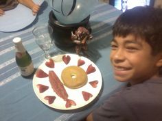 10th birthday breakfast - MUST do!  It has bacon and everything.  INstead of a donut, could be a pancake.