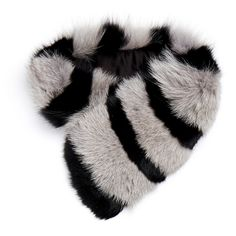 Charlotte Simone Candy Grey & Black Stripe Cuff Fur Scarf (14.735 RUB) ❤ liked on Polyvore featuring accessories, scarves, grey, fur scarves, gray scarves, fox fur shawl, fox fur scarves and fur shawl