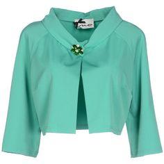 No Secrets Blazer ($105) ❤ liked on Polyvore featuring outerwear, jackets, blazers, green, blue blazer jacket, mandarin collar blazer, stretch blazer, blue jackets and single breasted jacket