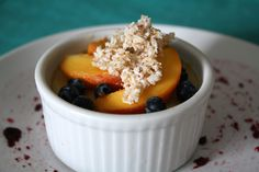 Easy Peach Pudding Cups | Sweetly Raw - '