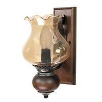 applique Tulipano  vetro, legno e ferro  max 40w  Leroy Merlin