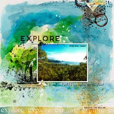 EXPLORE - Created with Aug 2017 M3 Main kit and Add-on products at The Lilypad  Mixed Media Monthly: Outdoor / Wilderness / Explore by Dawn Inskip, Little Butterfly Wings, Lynne-Marie and Paula Kesselring  http://the-lilypad.com/store/Mixed-Media-Monthly/