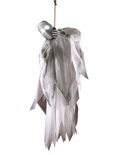 Erhängtes Phantom mit Leuchteffekt Halloween-Hängedeko weiss 91cm. Aus der Kategorie Halloween Partydeko/Halloween Dekofiguren. Sorgen Sie auf Ihrer Halloweenparty doch mal für Angst und Schrecken. Mit diesem hängenden Phantom sollte Ihnen das mit Leichtigkeit gelingen. Die Halloween-Hängedeko kann zudem noch mit einem gruseligen Leuchteffekt aufwarten und wird beim einen oder anderen Gast sicher einen verängstigten Blick auslösen.