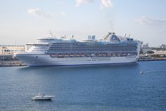 Crown Princess docked in Port Everglades - #cruise