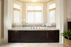 Master Bath tub skirt traditional bathroom cabinet facing