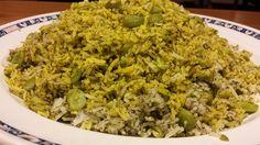 Vegetarian Baghali polo