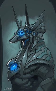 Anubis sketch by *el-grimlock on deviantART