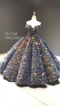 Off the shoulder glittery sequin ball gown. … Off the shoulder glittery sequin ball gown. …,Elbise modelleri Off the shoulder glittery sequin ball gown. Sweet 15 Dresses, Elegant Dresses, Pretty Dresses, Beautiful Dresses, Awesome Dresses, Unique Dresses, Debut Gowns, Debut Dresses, Quince Dresses