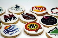 Corporate cookies with logo, world wide shipping - http://www.pinkcakeland.co.uk