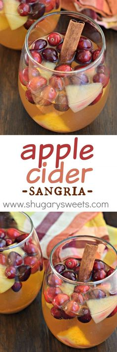 This Apple Cider Sangria is the perfect holiday beverage! Make it a day ahead of time for best flavor! #drink #recipe