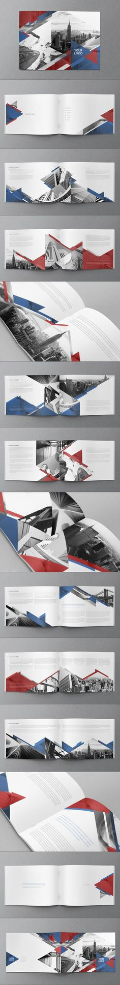 Love this layout and geometric elements. American Brochure by Abra Design, via Behance