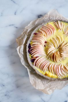 Apple & Cranberry Custard Tart