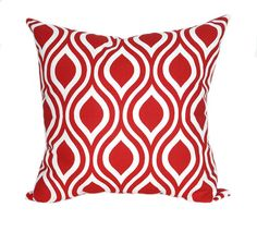 Red Outdoor Pillow Cover Nicole Rojo Red By ThePillowCoverStore