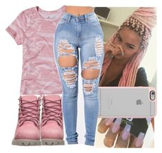 """""""back in detroit"""" by aribearie ❤ liked on Polyvore featuring Hollister Co., Timberland and Casetify"""