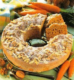 Chec cu nucă şi morcovi - Retete culinare - Romanesti si din Bucataria internationala Bagel, Deserts, Bread, Food, Desserts, Dessert, Meals, Breads, Bakeries