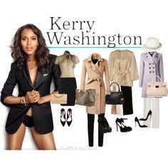 """Kerry Washington/Olivia Pope Fashion"" by telley-m-jay on Polyvore"