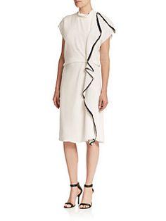 3.1 Phillip Lim - Side Ruffle Silk Dress