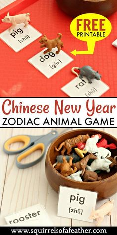 Free printable chinese new year game for kids - Easy Crafts To Sell, Diy Crafts For Adults, New Year's Crafts, Crafts For Kids To Make, Fun Crafts, Paper Crafts, Chinese New Year Crafts For Kids, Chinese New Year Activities, New Years Activities