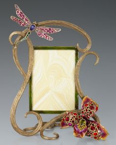 """Thelma+Lily+&+Dragonfly+5""""+x+7""""+Frame+by+Jay+Strongwater+at+Neiman+Marcus."""