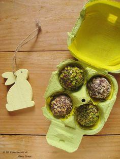 Tartufi al #Cioccolato Fondente e Frutta Secca.  Per #Pasqua e non solo.  #chocolate #easter