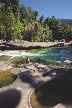 Babinda Boulders and Devils Pools are popular swimming spots located at Babinda, approximately 65 kilometers from Cairns. Aerial Photography, Travel Photography, Night Photography, Scary Places, Places To Go, Australia Travel, Australia Honeymoon, Central Park Manhattan, Honeymoon Places