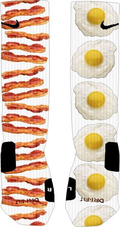 Custom Bacon and Eggs Nike Elite Socks