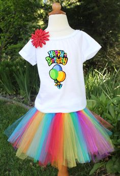 Girls Birthday Outfit Birthday Skirt Outfit by LittleMissyClothing