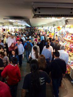 Crowded tunnel. Eminönu, Istanbul.