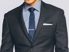 Premium Charcoal Birdseye Suit 1