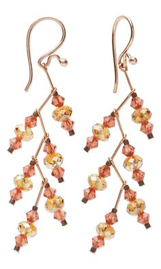 Copper and Swarovski Crystal Earrings by Kristal Wick. #diyearrings…