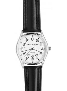 Circle Of Fifths  Looking for musicall themed watches for your wrist or home? If you are in need of Circle of Fifths watches and want to go with the best, try chromaticwatch.com which has been selling such pieces for long now.