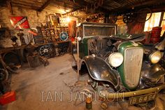 Vintage Garage - Stock Photo