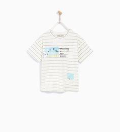 포토 & 스트라이프 티셔츠