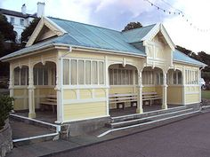 A view of the Victorian shelter on the seafront at Felixstowe, Suffolk, England Shelters, Seaside, Photo Galleries, Shed, Victorian, Outdoor Structures, Gallery, Outdoor Decor, Home Decor