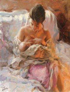 Vicente Romero Redondo young mother painting is shipped worldwide,including stretched canvas and framed art.This Vicente Romero Redondo young mother painting is available at custom size. Figure Painting, Painting & Drawing, Artist Painting, Mother And Child Painting, Art Amour, Breastfeeding Art, Beautiful Paintings, Oeuvre D'art, Love Art