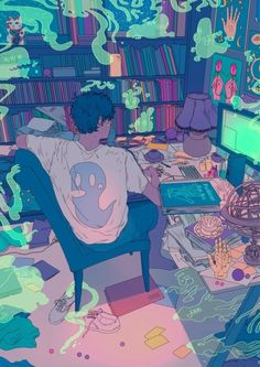 Find images and videos about boy, art and anime on We Heart It - the app to get lost in what you love. Pretty Art, Cute Art, Ghost Boy, Japon Illustration, Wow Art, Animation, Image Manga, Animes Wallpapers, Aesthetic Art